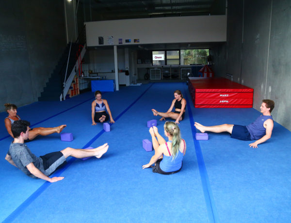 Group Doing Core Strengthening Exercise