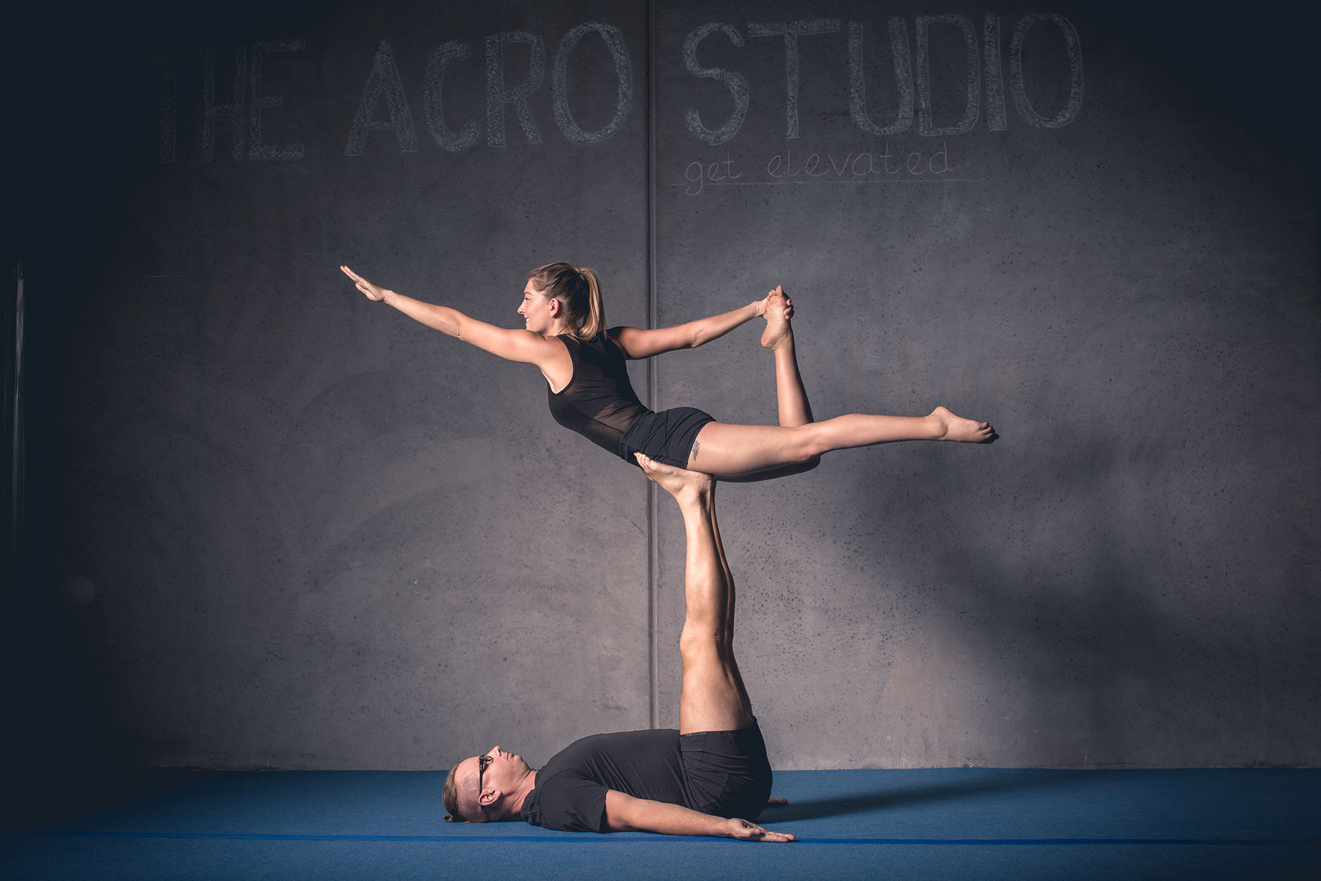 Monique and Chris From The Acro Studio